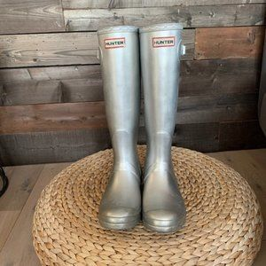 Hunter Original Tall Rain Boot - silver